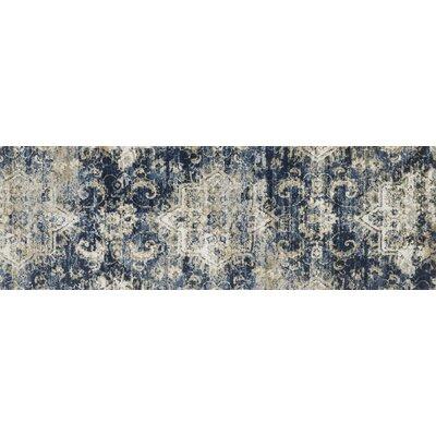 Blue Area Rug Rug Size: Runner 27 x 10