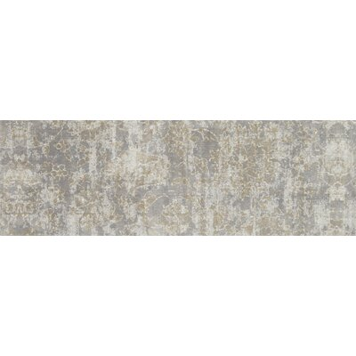 Gray Area Rug Rug Size: Runner 27 x 10