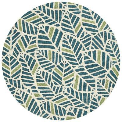 Tropez Hand-Hooked Blue/Green Indoor/Outdoor Area Rug Rug Size: Round 710