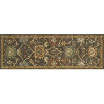 Underwood Gray/Brown Area Rug Rug Size: 36 x 56
