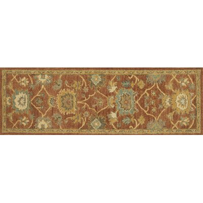 Underwood Rust/Gold Area Rug Rug Size: Runner 26 x 76