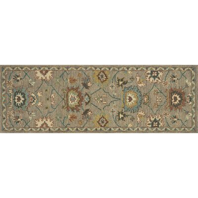 Durkee Gray Area Rug Rug Size: Runner 26 x 76