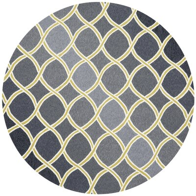 Danko Charcoal/Lime Area Rug Rug Size: Round 710