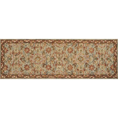 Watertown Hand-Hooked Slate/Terracotta Area Rug Rug Size: Runner 26 x 76