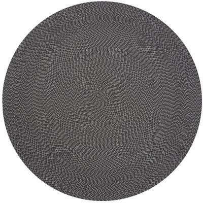 Wylie Hand-Woven Charcoal Indoor/Outdoor Area Rug Rug Size: Round 79