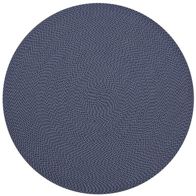 Daniell Hand-Woven Navy Indoor/Outdoor Area Rug Rug Size: Round 79
