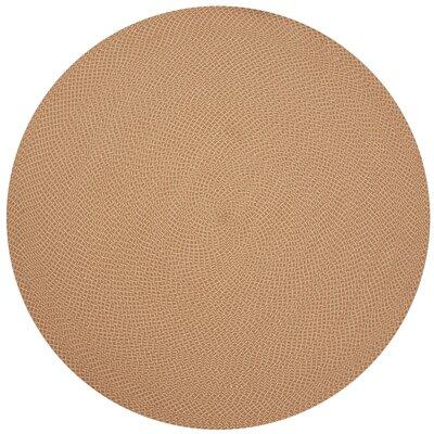 Daniell Hand-Woven Orange Indoor/Outdoor Area Rug Rug Size: Round 79