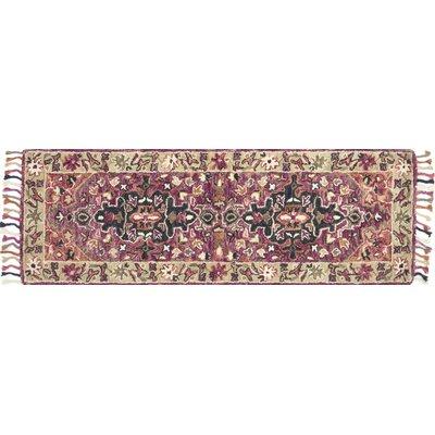 Rana Hand-Hooked Pink Area Rug Rug Size: Runner 26 x 76