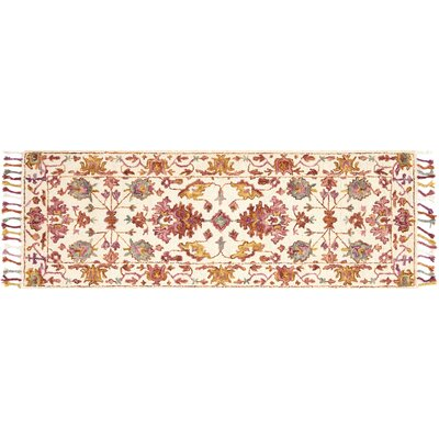 Rana Pink/Orange Area Rug Rug Size: Runner 26 x 76