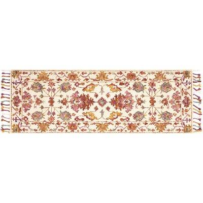 Rana Pink/Orange Area Rug Rug Size: Runner 26 x 76