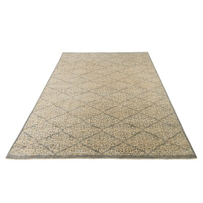 Claussen Hand-Knotted Slate/Ivory Area Rug Rug Size: Runner 26 x 20