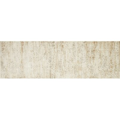 Kingston Cream Area Rug Rug Size: Runner 27 x 12
