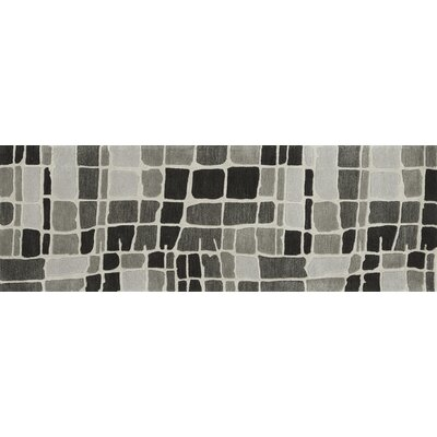 Nova Gray/Black Area Rug Rug Size: Runner 26 x 76