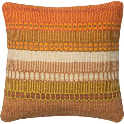 Pillow Cover Size: 18 H x 18 W x 0.25 D, Color: Orange
