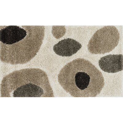 Enchant Gray/Ivory Area Rug Rug Size: Rectangle 53 x 77
