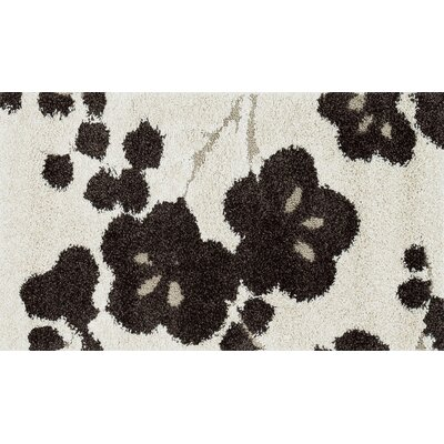 Dania Hand-Woven Ivory/Espresso Area Rug Rug Size: Rectangle 23 x 39