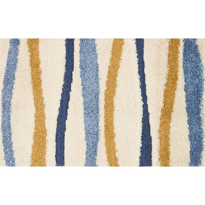 Enchant Blue/Beige/Orange Area Rug Rug Size: Rectangle 23 x 39