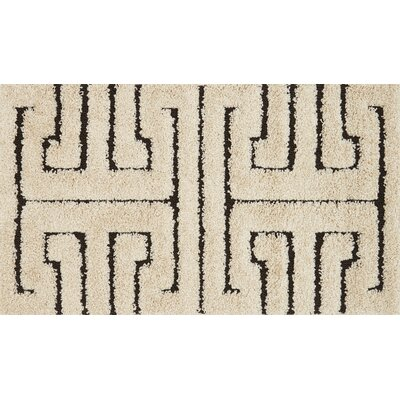 Dania White/Black Area Rug Rug Size: Rectangle 77 x 106