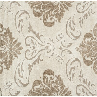 Dania Beige/Ivory Area Rug Rug Size: Square 77