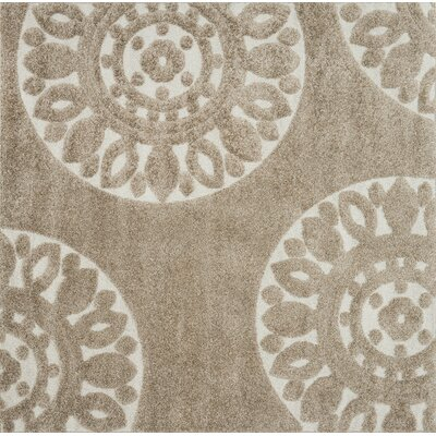 Dania Beige Area Rug Rug Size: Rectangle 23 x 39