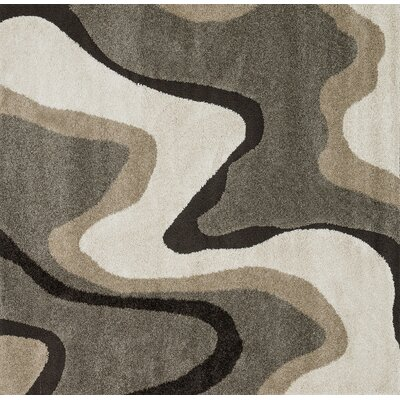 Dania Gray/White Area Rug Rug Size: Square 77