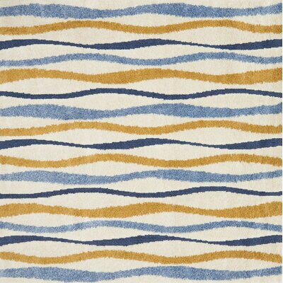 Dania Blue/Beige/Orange Area Rug Rug Size: Square 77