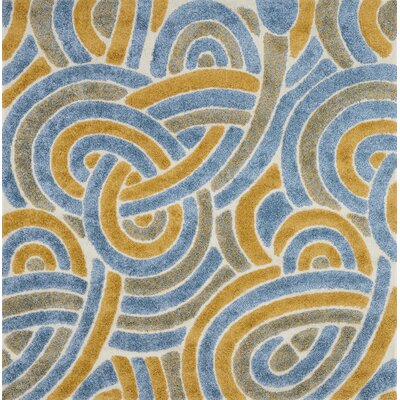 Dania Blue/Orange/Brown Area Rug Rug Size: Square 77