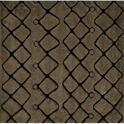 Dania Brown/Black Area Rug Rug Size: Square 77