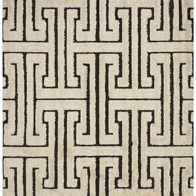 Dania White/Black Area Rug Rug Size: Square 77