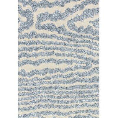 Dania Ivory/Light Blue Area Rug Rug Size: Rectangle 9 x 12