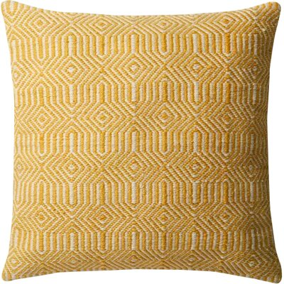 Cusson Outdoor Throw Pillow Color: Yellow