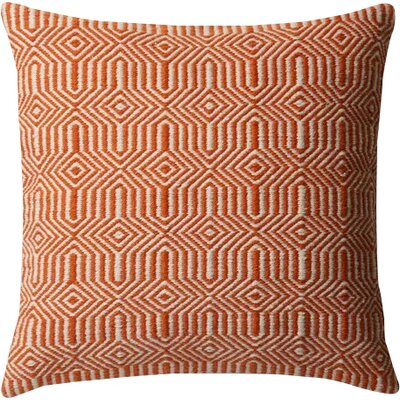 Cusson Outdoor Throw Pillow Color: Orange
