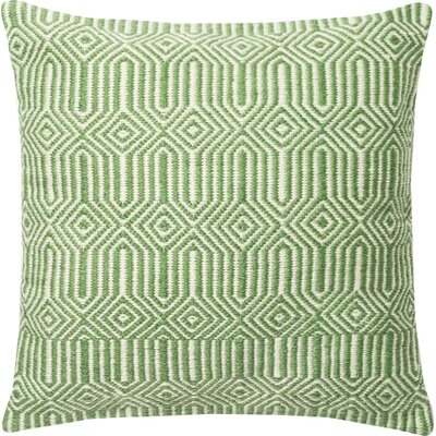 Cusson Outdoor Throw Pillow Color: Green/Ivory