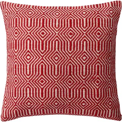 Cusson Outdoor Throw Pillow Color: Red