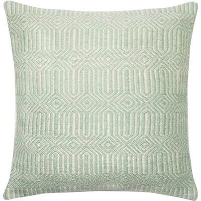 Cusson Outdoor Throw Pillow Color: Aqua/Ivory