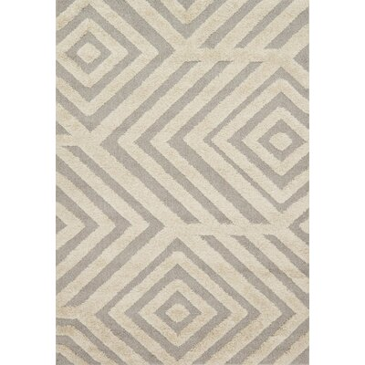 Bigham Sand/Gray Area Rug Rug Size: Rectangle 23 x 39