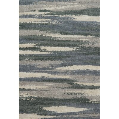Bigham Gray/Beige Area Rug Rug Size: Rectangle 9 x 12