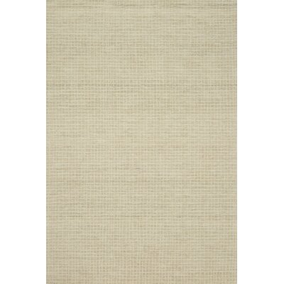Bourque Hand-Hooked Wool Antique Ivory Area Rug Rug Size: Rectangle 36 x 56