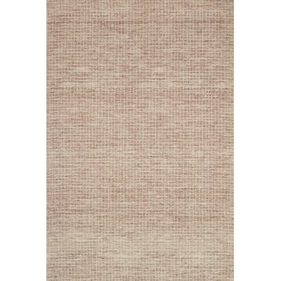 Bourque Hand-Hooked Wool Blush Area Rug Rug Size: Rectangle 12 x 15