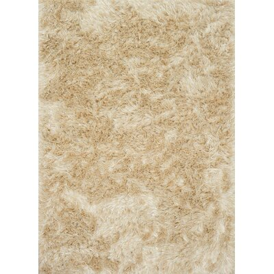 Elliana Shag Hand-Tufted Beige Area Rug Rug Size: Rectangle 5 x 76