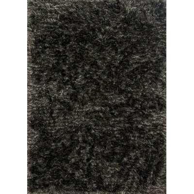 Elliana Shag Hand-Tufted Charcoal Area Rug Rug Size: Rectangle 23 x 39