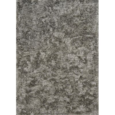 Elliana Shag Hand-Tufted Silver Area Rug Rug Size: Rectangle 36 x 56