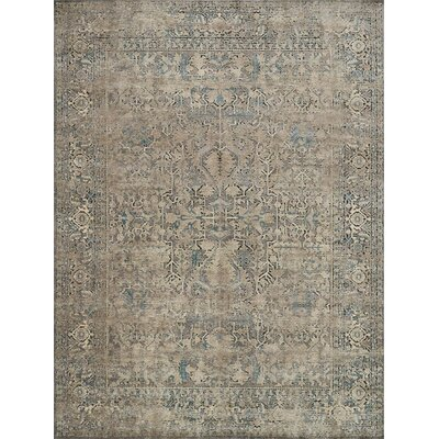 Diez Gray/Stone Area Rug Rug Size: Rectangle 37 x 67