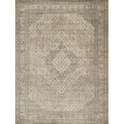 Diez Sand/Ivory Area Rug Rug Size: Rectangle 53 x 76