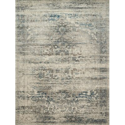 Diez Taupe/Ivory Area Rug Rug Size: Rectangle 27 x 4