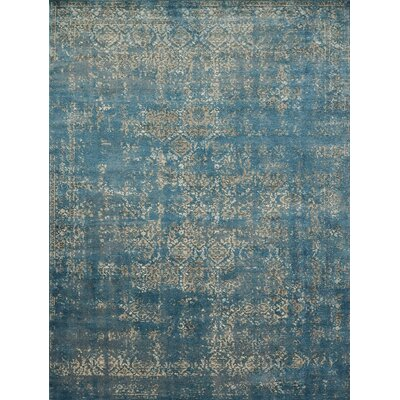 Diez Blue/Taupe Area Rug Rug Size: Rectangle 27 x 4
