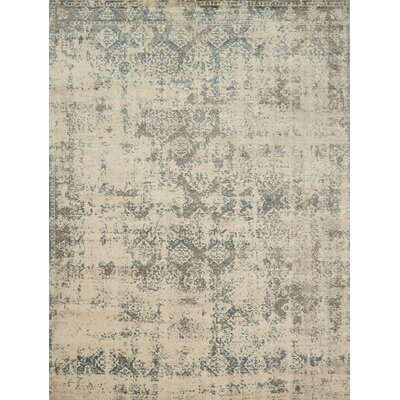 Diez Ivory/Gray Area Rug Rug Size: Rectangle 53 x 76