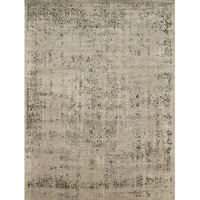 Diez Stone/Charcoal Area Rug Rug Size: Rectangle 37 x 57