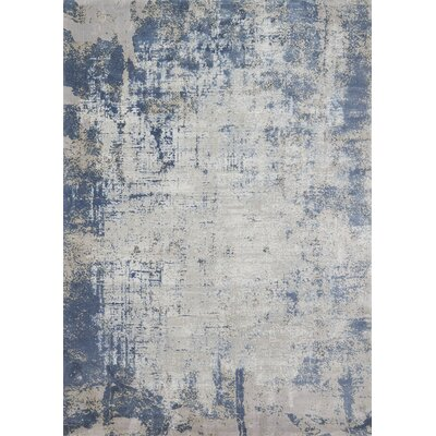 Bourn Denim/Gray Area Rug Rug Size: Runner 27 x 12