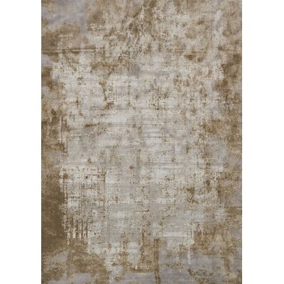 Bourque Wheat/Gray Area Rug Rug Size: Round 53